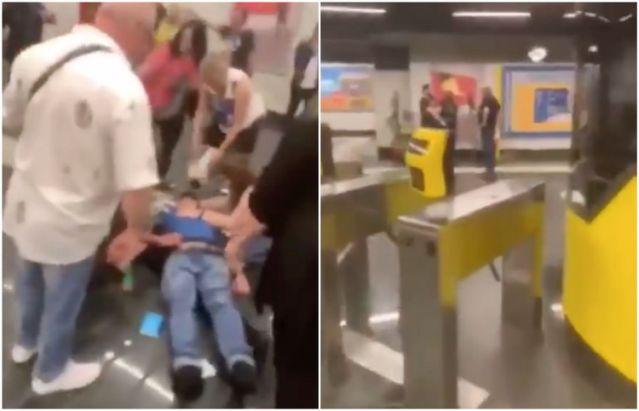 Nigeriano aggredisce tabaccaio nella metro di Chiaiano (VIDEO)