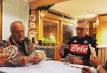 Dimaro, Calcio Napoli: Scopone scientifico in attesa del Real