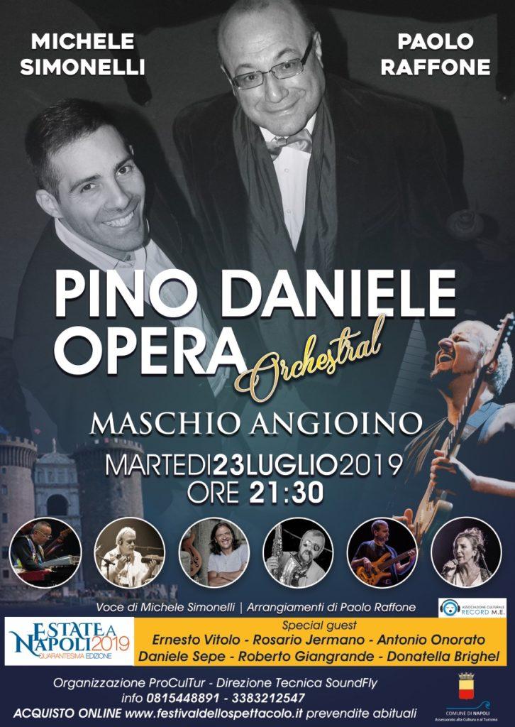 Pino Daniele Opera al Maschio Angioino con Michele Simonelli e Paolo Raffone