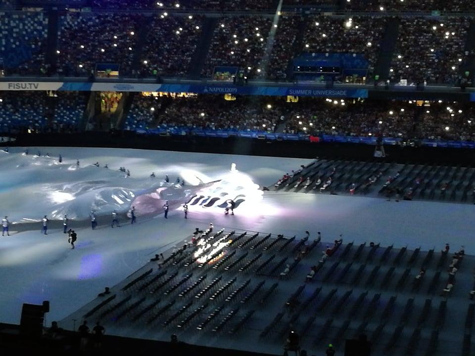 Universiade: la cerimonia d'apertura dei mille colori allo Stadio San Paolo