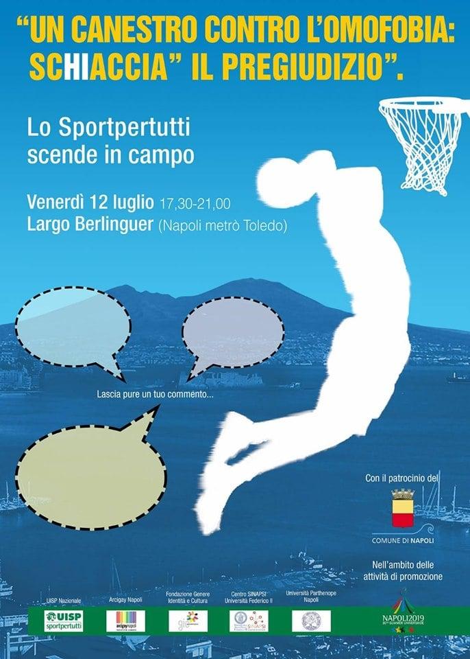 Napoli, ecco Un canestro contro l'omofobia: il basket contro ogni pregiudizio