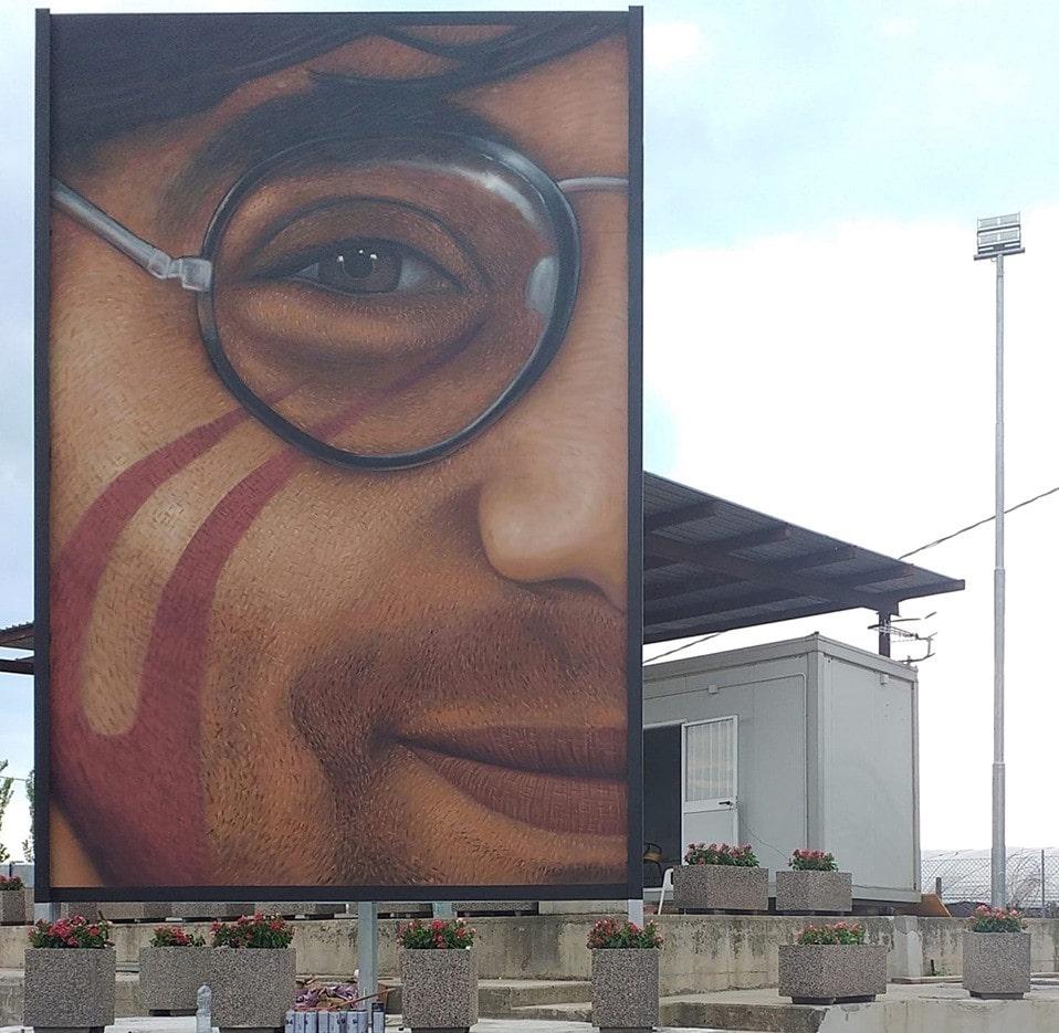 Jorit, omaggio a Giancarlo Siani: un murale a Giugliano nell'area ex Resit