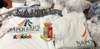 Universiade, vendevano cappellini e magliette contraffatte: due denunciati