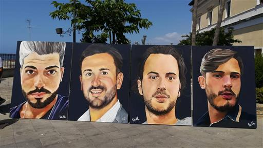 Torre Del Greco, un murale per ricordare i 4 giovani morti un anno fa