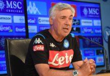 """Calcio Napoli, Ancelotti: """"Insigne? Caso chiuso, ma deve sorridere"""""""