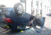 Massa Lubrense: guida positivo ad alcol e droga, l'auto si ribalta