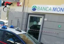 Montoro, rapina notturna in banca: rubata cassaforte con 20mila euro