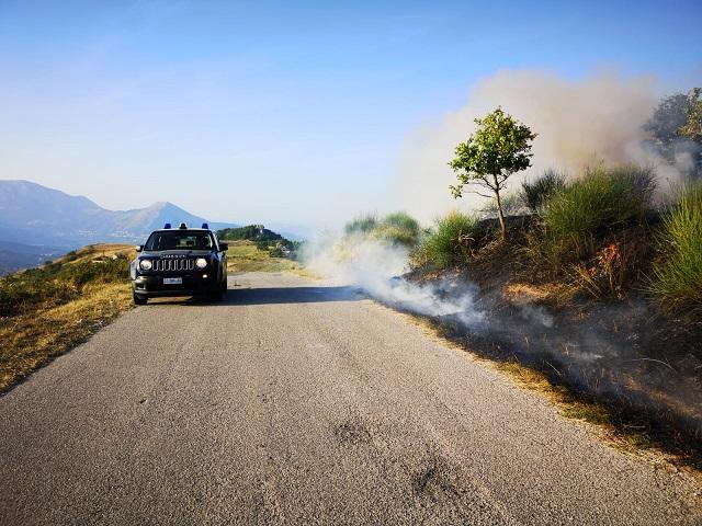 Pericolo incendi boschivi in Campania, rafforzati i controlli
