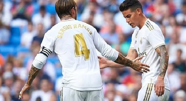 Calciomercato Napoli, la grande illusione: James resta a Madrid