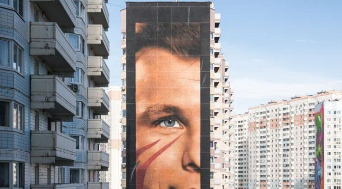 Jorit, la sua arte approda in Russia: un murale dedicato a Jurij Gagarin