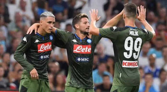 Marsiglia-Napoli 0-1: decide un gran gol di Mertens. Ottima prova di Elmas