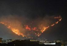 Sarno, va a fuoco il monte Saretto: cittadini evacuati e scuole chiuse