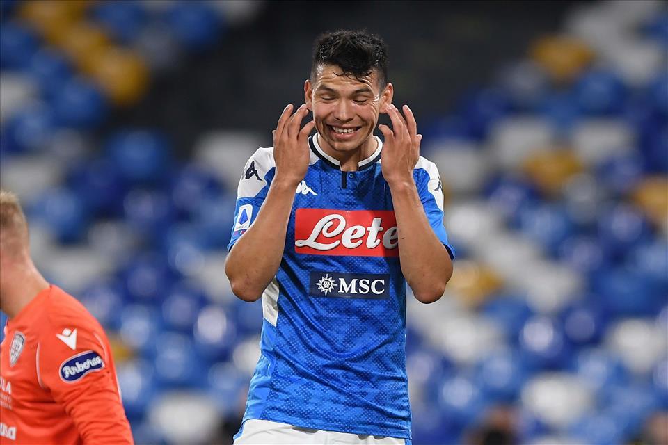 Calcio Napoli: stop di almeno 3 settimane per Lozano