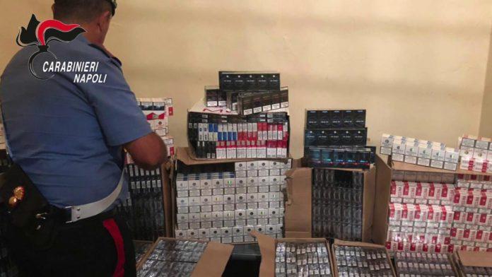 Qualiano, quasi mezza tonnellata di sigarette in garage: arrestato 53enne
