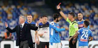 Calcio Napoli, Ancelotti squalificato per una giornata