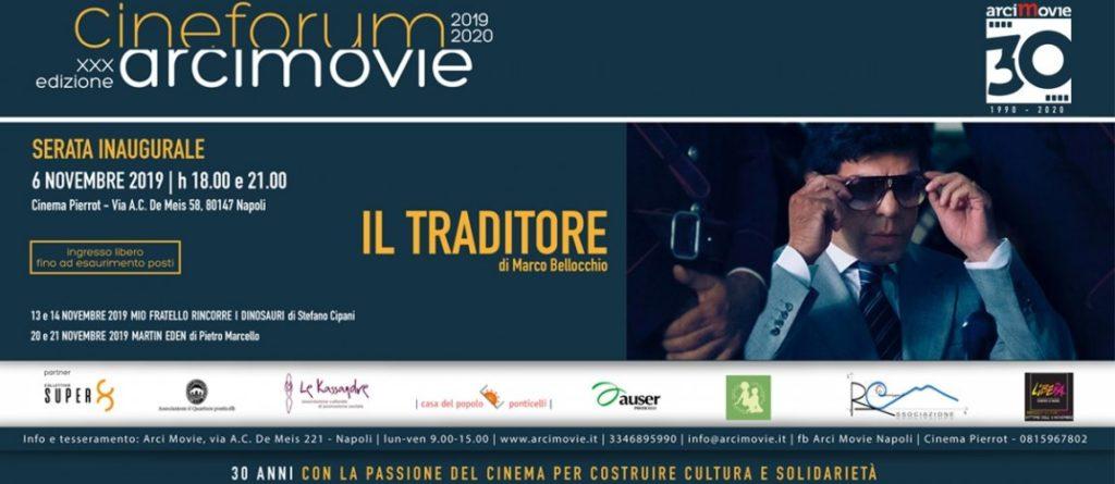 """Arci Movie: Riparte il cineforum al Pierrot di Ponticelli con il film""""Il Traditore"""""""