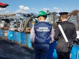 Acerra, rifiuti speciali stoccati illecitamente: due denunce e area sequestrata