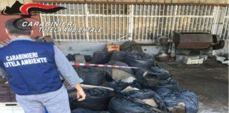 Giugliano, rifiuti speciali stoccati illecitamente: una denuncia e area sequestrata