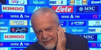"""Calcio Napoli, De Laurentiis contro gli arbitri: """"Pessimi attori"""""""