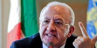 """De Luca: """"Stabilizzeremo i precari. Renderemo la Campania una regione di legalità"""""""