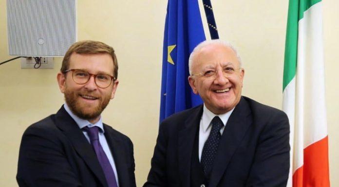 """Vincenzo De Luca: """"Incontro fruttuoso col ministro Provenzano"""""""