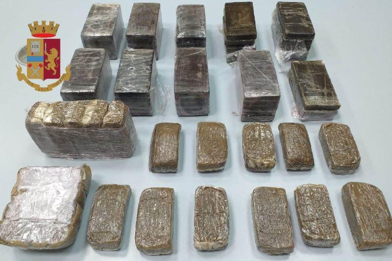 Secondigliano: la Polizia di Stato sequestra sette kg di hashish