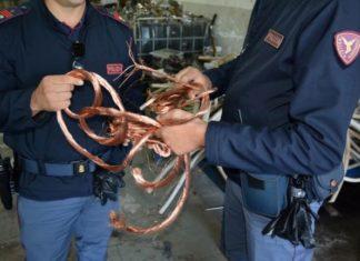 Polizia, sequestrate dieci tonnellate di rame: tre denunce