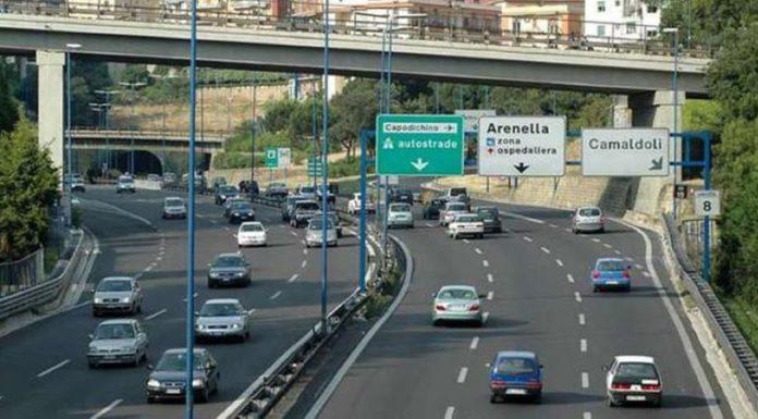Tangenziale di Napoli: chiuso lo svincolo esterno di uscita e di entrata di Vomero