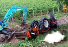 Tragedia nel Sannio, si ribalta un trattore: morta bracciante 56enne
