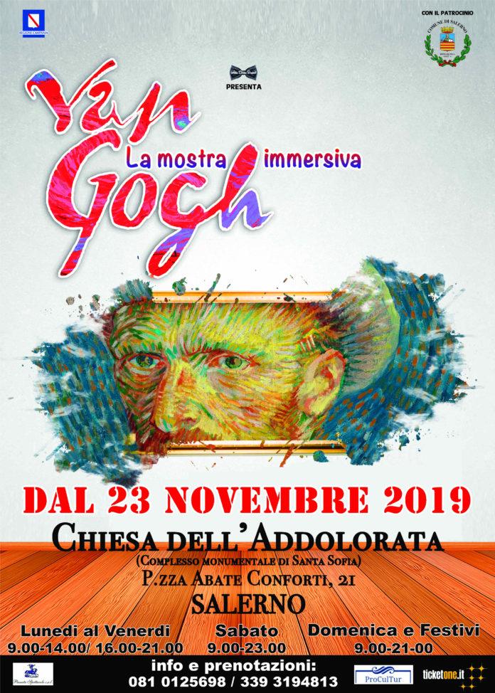 Salerno, ingresso gratuito per due domeniche nell'area mapping di Van Gogh