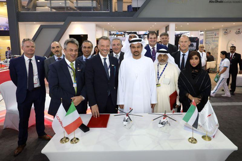 Leonardo: contratti per cinque elicotteri con Abu Dhabi Aviation