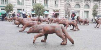 Napoli abbraccia sempre di più l'arte: in arrivo i 100 lupi di Liu Ruowang