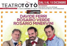 Teatro Totò: Davide Ferri, Rosario Minervini e Rosario Verde in scena con 'Perra Pesca o Albicocca?