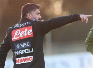 Calcio Napoli: De Laurentiis segue l'allenamento, Gattuso sceglie il 4-3-3