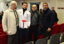 Grande gioia per Giovanni Improta: all'atleta di Teverola il premio Coni