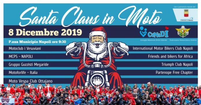 Comune di Napoli: domenica 8 dicembre la sesta edizione di Santa Claus in moto