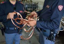 Polizia, sequestrata una tonnellata e mezzo di rame rubato: una denuncia