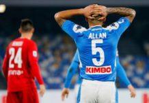 Calcio Napoli: Allan ancora out, potrebbe partire a fine anno