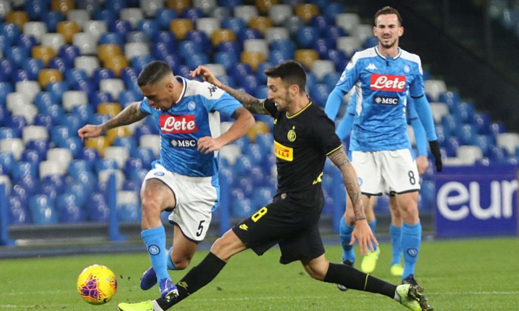 Calciomercato Napoli, si lavora a un doppio scambio con l'Inter