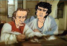 San Giorgio a Cremano: panchine dipinte con le vignette dei film di Troisi