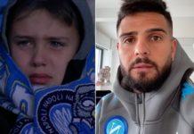 Calcio Napoli, Insigne manda un messaggio al piccolo tifoso in lacrime