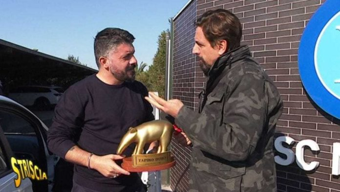 Calcio Napoli, consegnato il Tapiro d'oro a Gattuso dopo la sconfitta