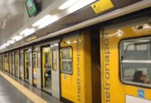 Linea 1 metropolitana di Napoli: treni sulla tratta Colli Aminei-Garibaldi