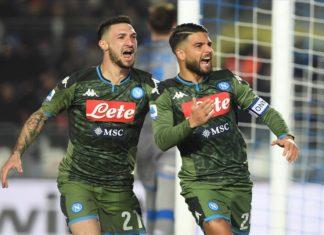 Il Calcio Napoli rischia a Brescia ma vince con Insigne e Ruiz 2-1