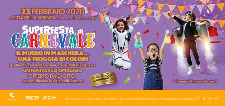 Carnevale a Città della Scienza: domenica 23 febbraio ingres