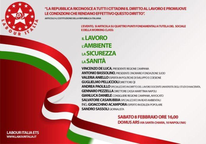Labour Italia: sabato 8 febbraio un convegno a Napoli