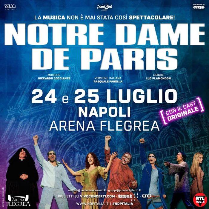 Notre Dame de Paris, grande ritorno a Napoli: biglietti in vendita da domani
