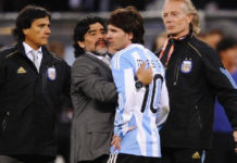 """Calcio Napoli, Maradona: """"Vorrei che i napoletani avessero un Messi"""""""