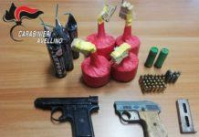 Bagnoli Irpino, pistole e munizioni occultate in casa: padre e figlio arrestati