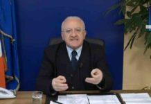 """Coronavirus, De Luca: """"Accelerare sull'esito dei tamponi in Campania"""""""